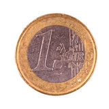 One euro coin on a white background Royalty Free Stock Images