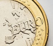 One euro coin on white Stock Photography