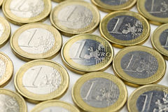 One euro coins Stock Photo