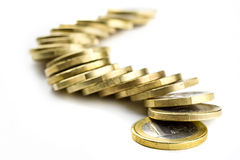 One euro coins Royalty Free Stock Photos