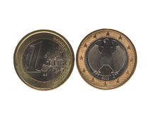 One Euro EUR coin, European Union EU isolated over white Royalty Free Stock Photography