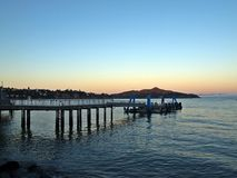One evening at Sausalito. A nice view from Sausalito, nearby Golden Gate bridge in California Stock Image