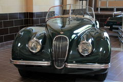 One example of exotic cars on display, Saratoga Automobile Museum, New York, 2016. Horizontal image of Saratoga Automobile Museum, with exotic vehicles on Stock Photos