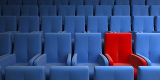 One exclusive seat Royalty Free Stock Image
