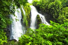Sumenep Waterfall. One exotic place in Jepara, Central Java, Indonesia. there are three waterfalls in this place including this one Stock Photo