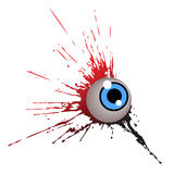 One eye with blob. Vector illustration royalty free illustration