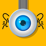 One eye. Cartoon. A typical character. Stock Image