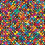 One eye flower diamond seamless pattern Royalty Free Stock Images