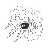 One eye of god Stock Photos