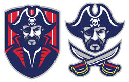 One eye pirate mascot Royalty Free Stock Photo