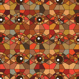 One eye square vintage color seamless pattern Royalty Free Stock Photography