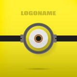 One eye on a yellow background illustration of stylish logo Royalty Free Stock Image
