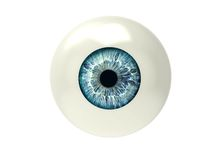 One eyeball isolated on white Royalty Free Stock Images
