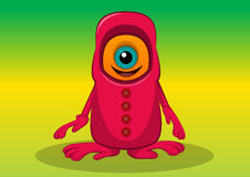 One-eyed Creature, illustration Stock Image