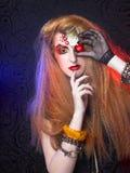 One-eyed girl Royalty Free Stock Image