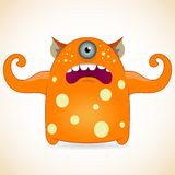One-eyed orange monster Royalty Free Stock Photo