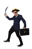 One eyed pirate with briefcase Stock Images