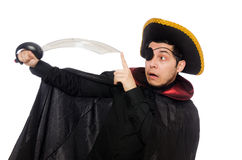 One eyed pirate with sword Stock Photos