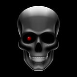 One eyed skull on black Royalty Free Stock Photo