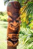 One Face Hawaiian Tiki Totem stock image