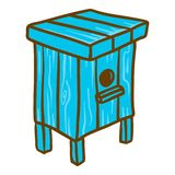 One family beehive icon, hand drawn style stock illustration