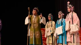 """One family are lonelyOne family are lonely- Beijing Opera"""" Women Generals of Yang Family"""" stock video"""