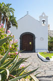 Little white church in Tenerife Royalty Free Stock Photos