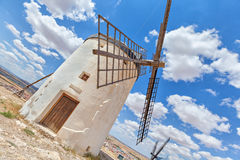 One of famous Consuegra windmills Royalty Free Stock Photography
