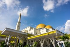 As-Salam Mosque in Puchong Perdana, Malaysia. This is one of famous mosque in Malaysia, many people come here to see the beauty of the mosque. The architecture Stock Photos