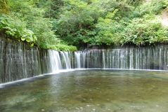 Shiraito Falls at Karuizawa of Japan stock photos
