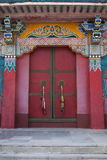 One of the famous Tibetan Buddhist monastery temple ---- Miao Temple of the door Stock Images