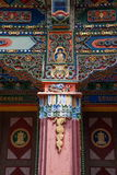 One of the famous Tibetan Buddhist temple ---- Miu Wan Temple of Buddha carved beams local Royalty Free Stock Images