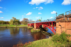 Tidal Weir, River Clyde, Glasgow, Scotland Royalty Free Stock Photo