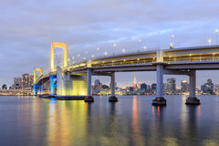 One of famous Tokyo landmarks, Tokyo Rainbow bridge Stock Photos