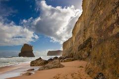 One of the famous twelve Apostles. One Apostle of the famous twelve Apostles rock formations on the Great Ocean Road, Victoria, Australia royalty free stock photo