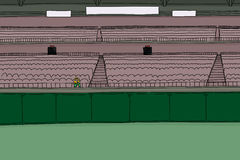 One fan at empty stadium Stock Images