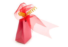 One  fancy gift box. On white background Royalty Free Stock Photos