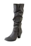 One female black boot Stock Photo