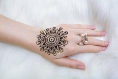Henna on hand Stock Photography