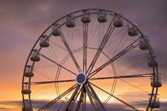 One ferris wheel in Ireland royalty free stock images