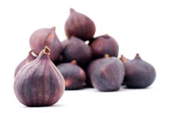 One fig isolated on a white background Stock Images