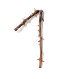 1 one figure composed of thorny rose stems Royalty Free Stock Photography