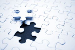 One final puzzle piece Royalty Free Stock Photos