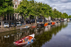 One fine day in romantic Amsterdam, Netherlands stock photography