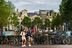 One fine day in romantic Amsterdam, Netherlands Stock Photo