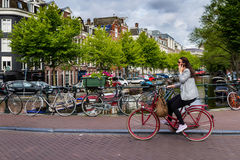 One fine day in romantic Amsterdam, Netherlands Stock Photos
