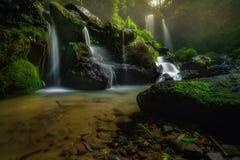 One fine morning. Grenjengan kembar waterfall royalty free stock photography