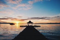 One fine morning at Ternate. Beautiful sunrise started a good day in Ternate Indonesia royalty free stock photos