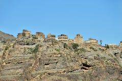 Mountain village in Yemen Stock Photography