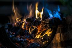 Fire for a nice Asado in Argentina royalty free stock photos